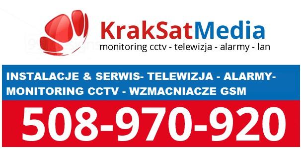 wykonujemy montaż anten, monitoringu i alarmów - Wieliczka i okolice Wieliczki